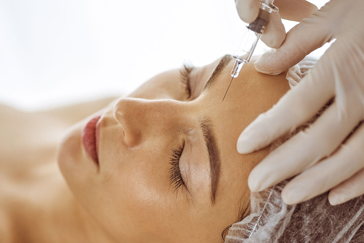 woman receives various injectables techniques from Dr. Gregory Buford
